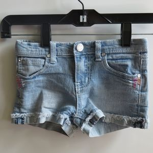 Free Planet light blue shorts (Size 6 for girls)
